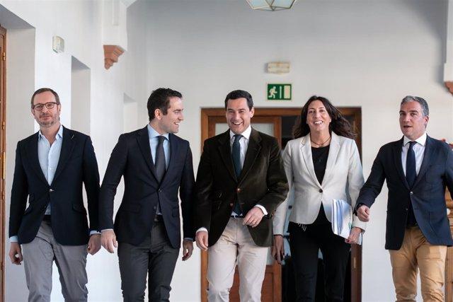 Reunión de la comisión política de PP-A y Cs