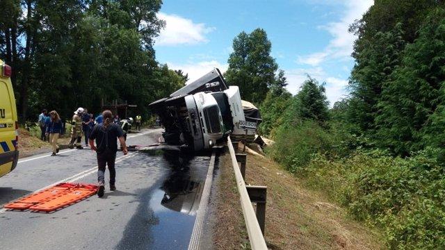 Camión accidente