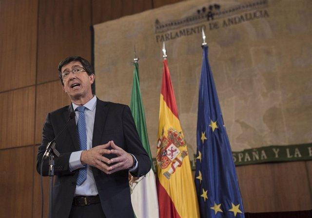 El líder de Cs en Andalucía, Juan Marín, en una imagen de archivo