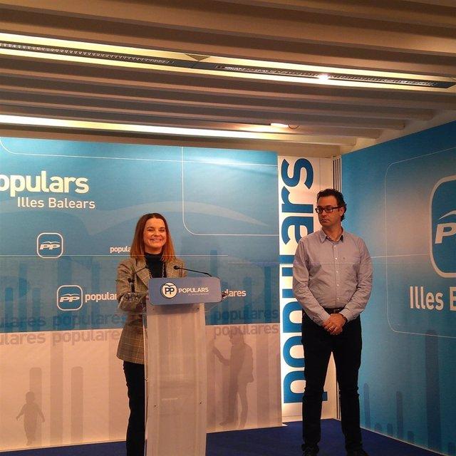 La portavoz del PP balear en el Parlament, Marga Prohens