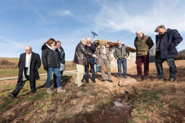 Díaz Tezanos inaugura obras de mejora de suministro de agua