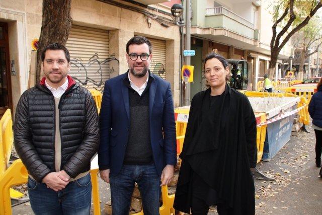 El alcalde de Palma, Antoni Noguera y el concejar Rodrigo Romero