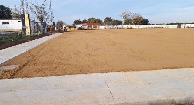 Campo de fútbol que va a ser mejoradob