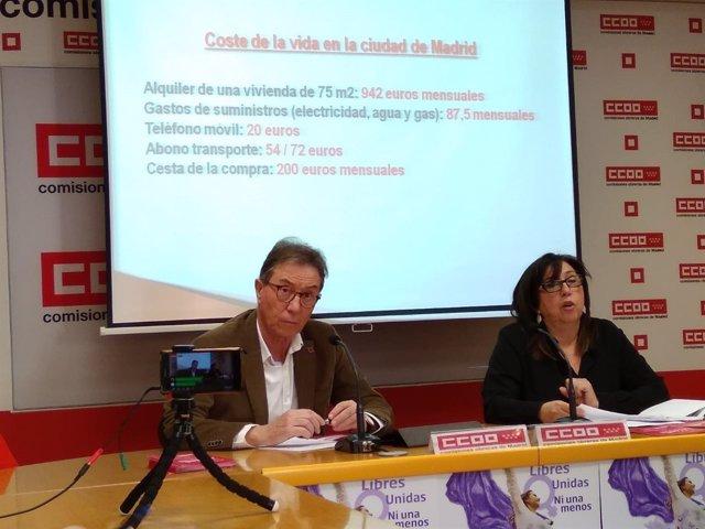 El secretario general de CCOO Madrid, Jaime Cedrún