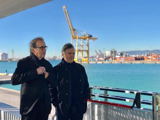 El comisionado de Cultura Joan Subirats y el comisiario Carlos Zanón