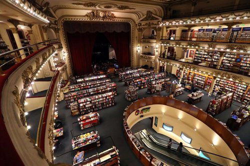 A view of El Ateneo Grand Splendid bookstore, in Buenos Aires, Argentina January