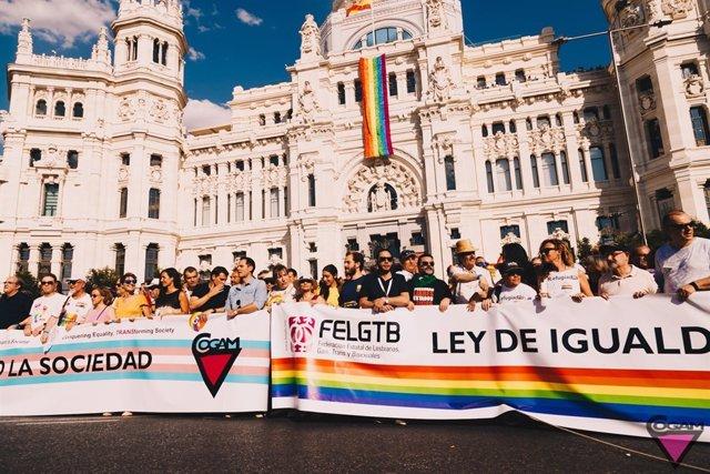 COGAM vetará en la manifestación del Orgullo de Madrid a los partidos que