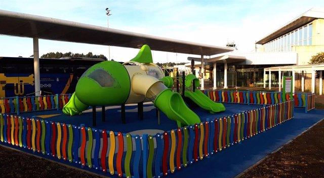 Zona infantil en el Aeropuerto de Asturias