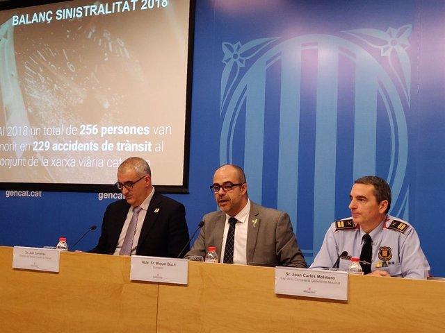 Juli Gendrau, Miquel Buch y Joan Carles Molinero