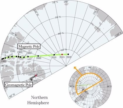 El errante polo magnético desborda el modelo de navegación