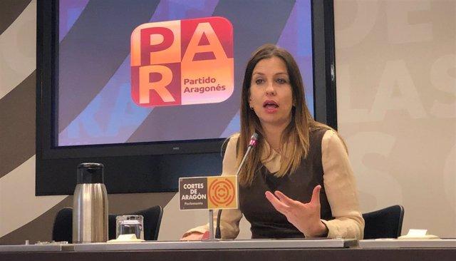 La portavoz adjunta del PAR, María Herrero.