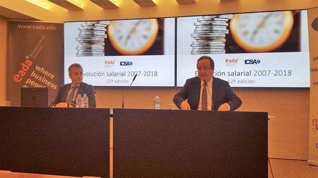 Jordi Costa (Eada) y Ernest Poveda (Icsa Grupo)