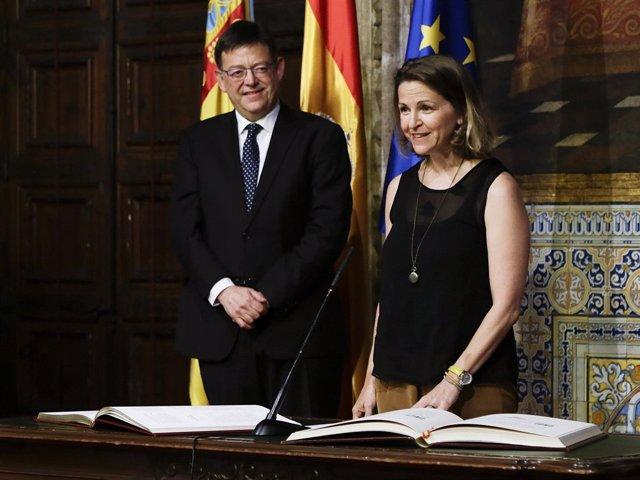 La consellera Elena Cebrián, en la toma de posesión