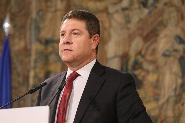 Emiliano García-Page, en encuentro con medios