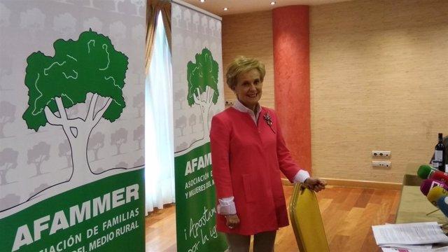 La presidenta de Afammer, Carmen Quintanilla