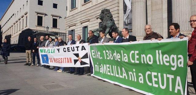 Compromís, Coalición por Melilla y Caballas ante el Congreso