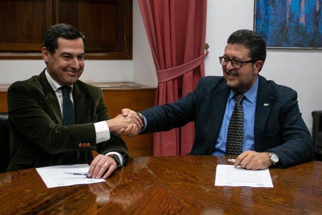 Reunión de PP-A y Vox para firmar un pacto de investidura