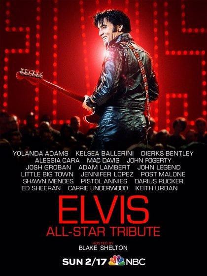 Ed Sheeran, John Fogerty, Shawn Mendes y Adam Lambert, entre los participantes en un abrumador tributo a Elvis Presley