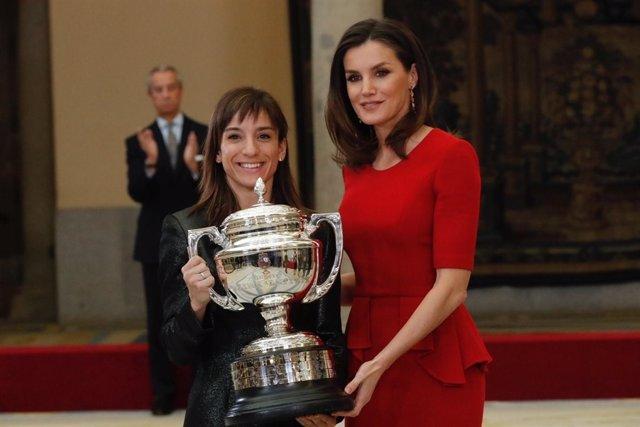 Sandra Sánchez con SM la Reina Letizia