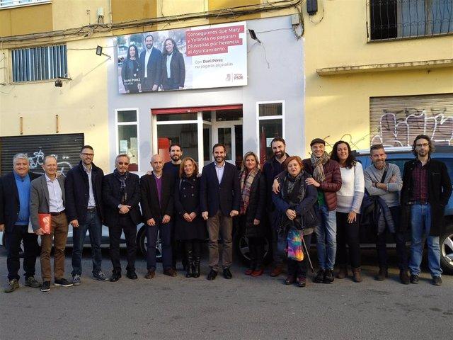 Dani perez presenta curso político en málaga psoe candidato elecciones municipal
