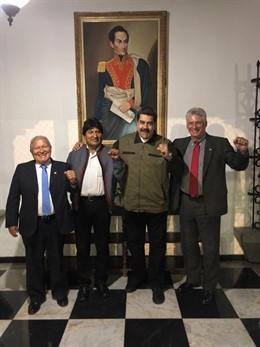Los presidentes de El Salvador, Bolivia, Venezuela y Cuba