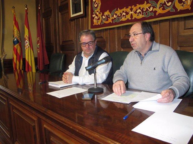 Los concejales de Seguridad Ciudadana y Medio Ambiente de Teruel