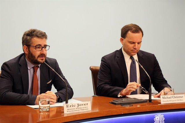 Eric Jover (ministre Andorra) Michael Christner (conseller delegat Vall Banc)