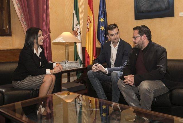 Bosquet recibe a Antonio Maíllo y Jose Ignacio García, de Adelante Andalucía