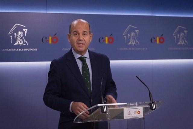 El diputado del PP Ramón Moreno en el Congreso