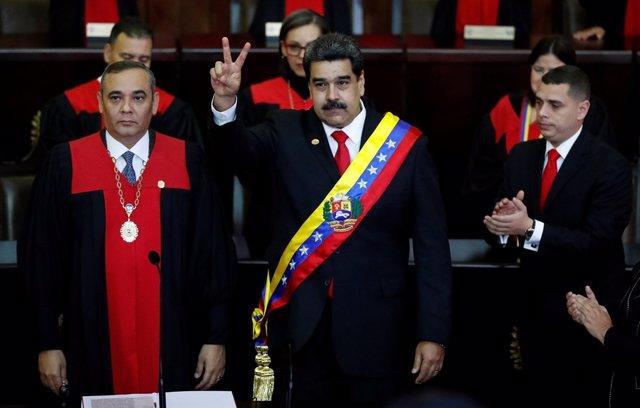 Maduro inicia un segundo mandato como presidente de Venezuela