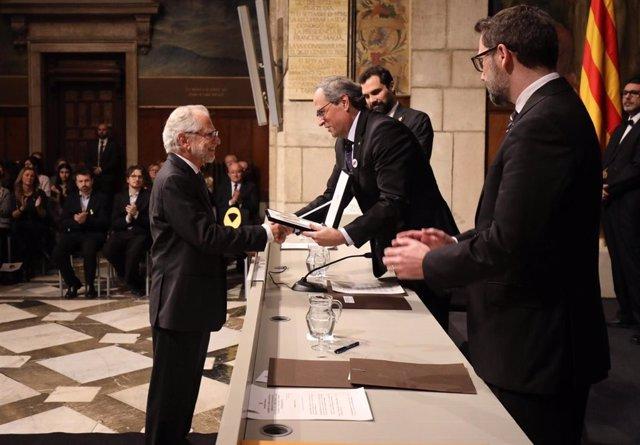 Entrega de la Medalla de Oro de la Generalitat a Viver i Pi-Sunyer
