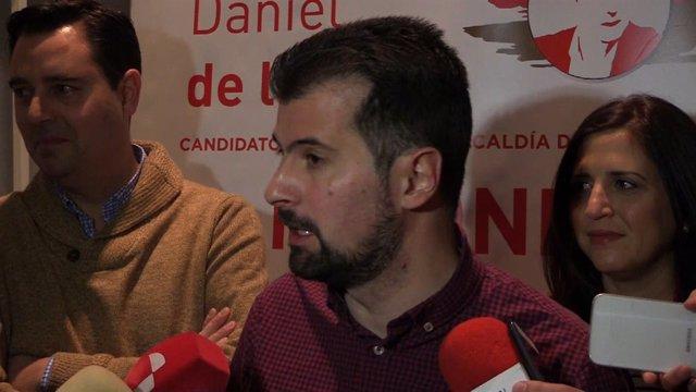 Luis Tudanca en Burgos, 10-1-19