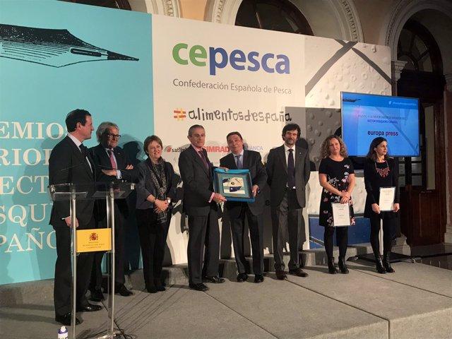 Europa Press, premiada por Cepesca por su labor informativa sobre el sector pesq