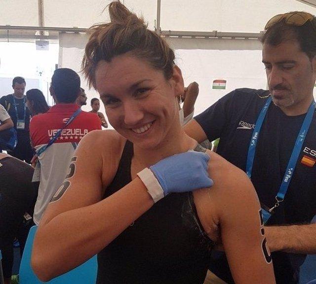 La nadadora española Paula Ruiz