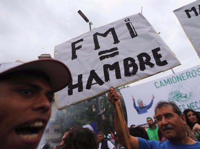 Manifestación en Argentina contra el alza de las tarifas en Argentina