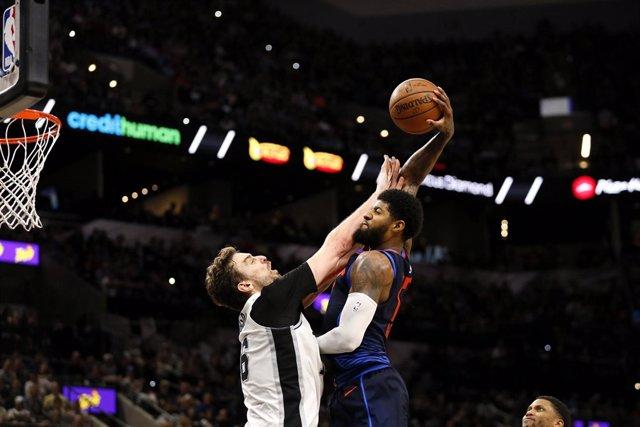 Pau Gasol San Antonio Spurs Oklahoma City Thunder Paul George