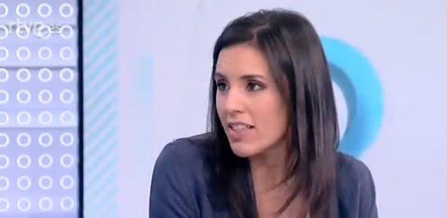 Entrevista en TVE a la portavoz parlamentaria y 'número dos' de Podemos
