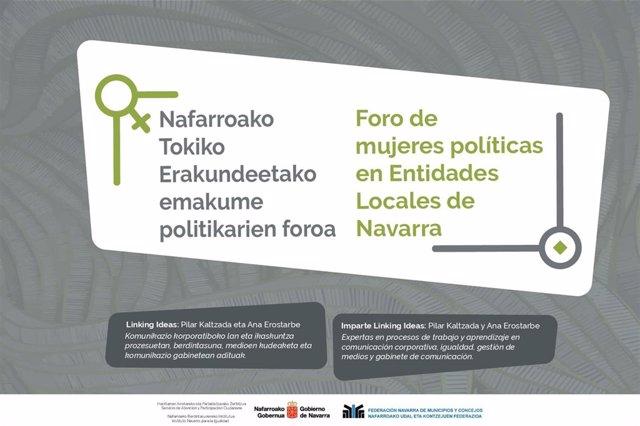Cartel de presentación del foro de mujeres políticas en entidades locales