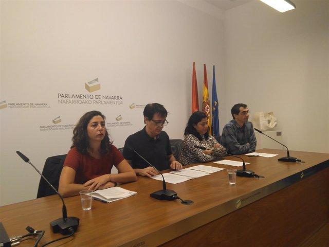Laura Pérez, Carlos Couso, Fanny Carrillo y Rubén Velasco, de Orain Bai.