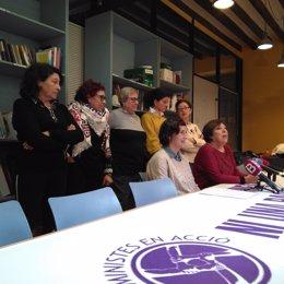 Feministes en Accio en rueda de prensa