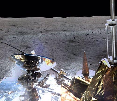 Fragmento de la imagen panorámica remitida por Chang'e 4