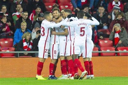 El Sevilla triomfa a San Mamés i el Betis no pot amb la Reial Societat en l'anada de vuitens