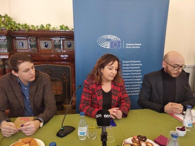 Los eurodiputados socialistas Javi López e Iratxe García