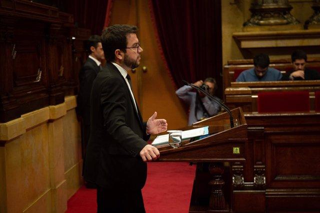 El vicepresidente del Govern Pere Aragonès en una imagen de archivo.