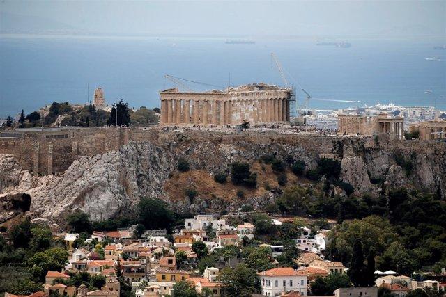 Atenas con el Partenón al fondo
