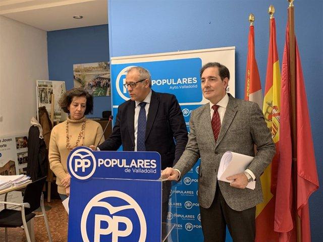 El PP del Ayuntamiento de Valladolid presenta las enmiendas al Presupuesto. 11-1