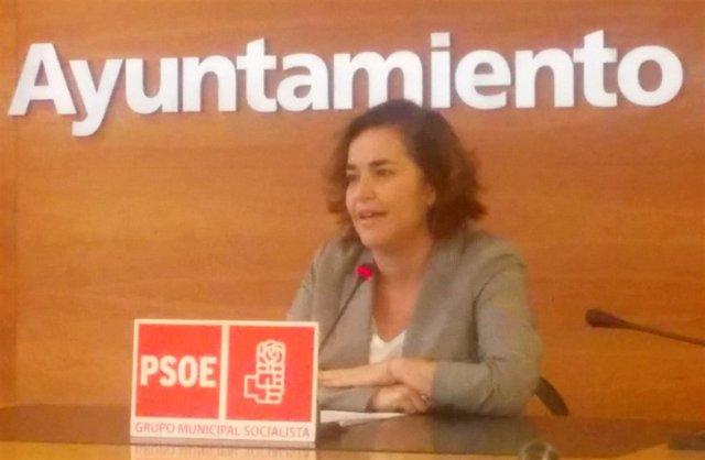 Beatriz Arraiz, en la rueda de prensa