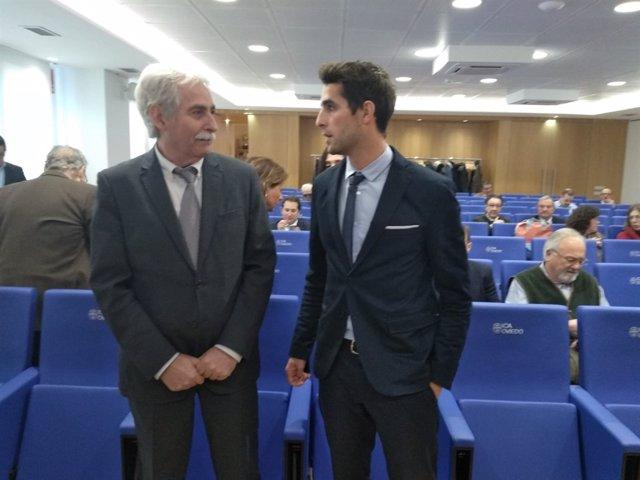 Manuel Herminio García Álvarez y Eduardo García en el ICA.