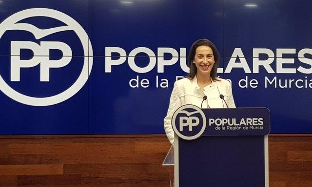 Nuria Fuentes, portavoz del PPRM