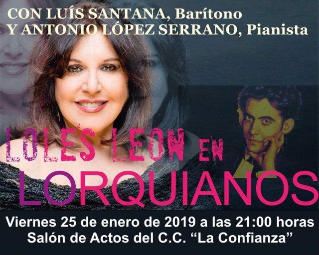 Cartel del tributo poético a Federico García Lorca en Valdepeñas